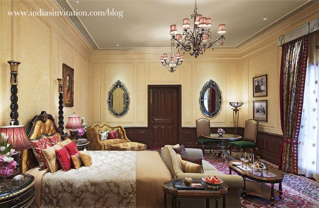 Maharani Suite Grand Royal Suite bedroom The Rambagh Palace