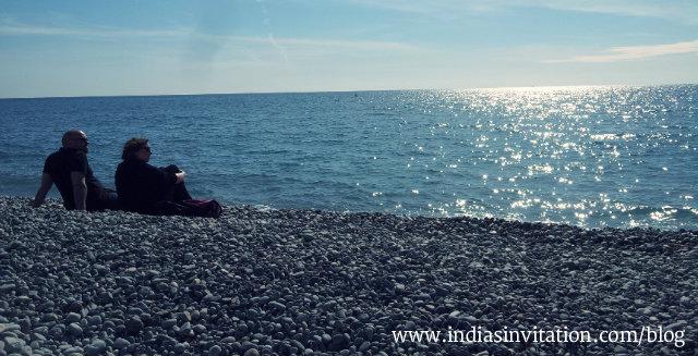 Beach of Nice France