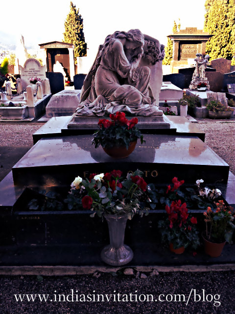 Cemetery of Nice in France