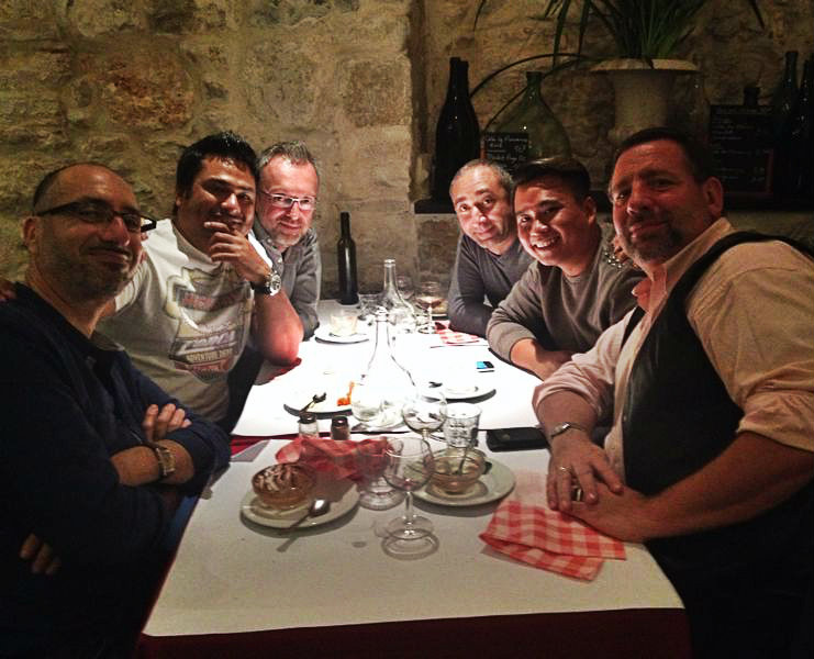 Dinner with friends in nice France
